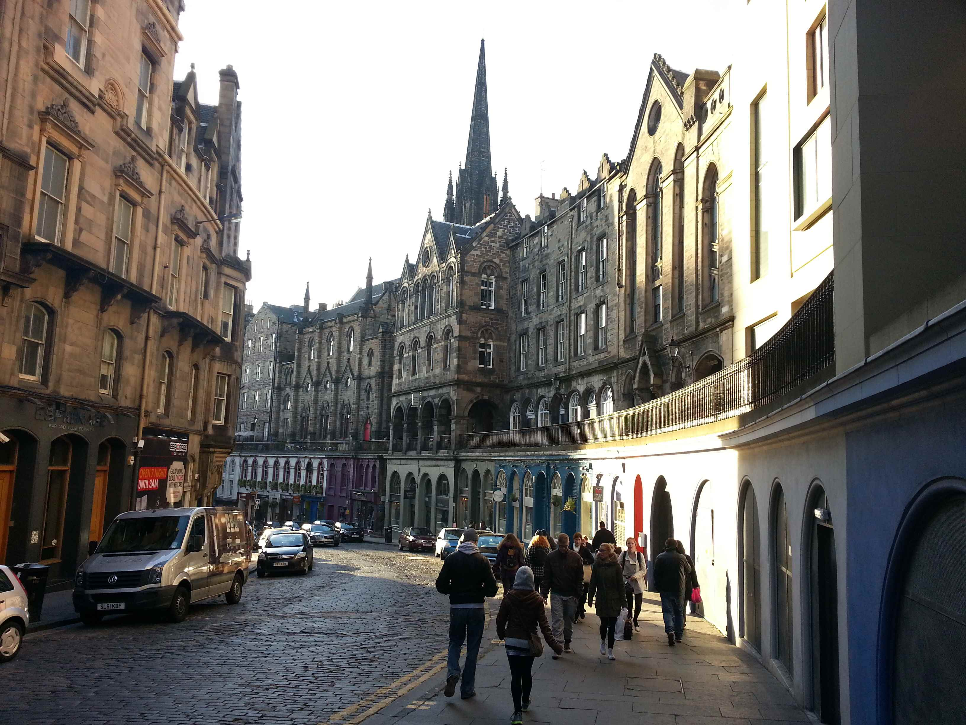 Straße in der Old Town von Edinburgh © Jan Kanter