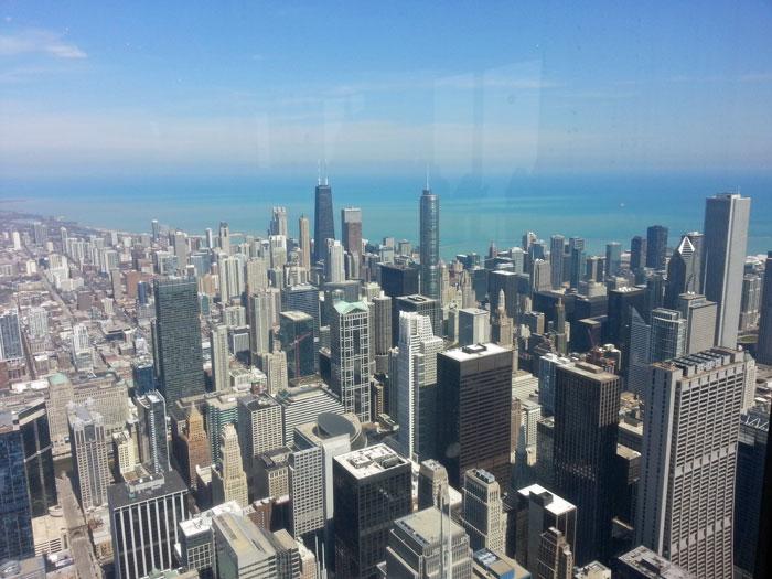 Die Skyline Chicagos vom Sears-Tower aus gesehen (C) kanter